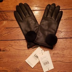 NWT - UGG Leather Gloves w/Wool & Cashmere Lining
